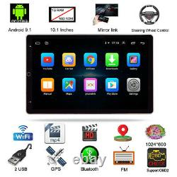 10.1in Car FM Stereo Radio Player Bluetooth Hands Free Quad Core 1+16GB GPS WIFI