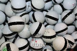 900 Premium Assorted Black Striped White Range Practice Golf Balls Top Quality