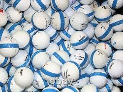 900 Premium Assorted Blue Striped White Range Practice Golf Balls Top Quality