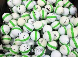 900 Premium Assorted Sour Apple Green Striped White Range Practice Golf Balls
