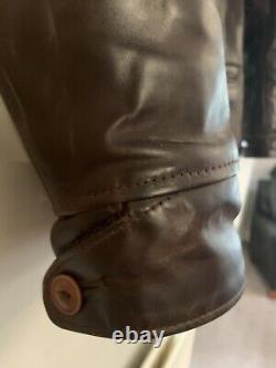 Aero Leather Premier Range Work Coat Brown Size 44