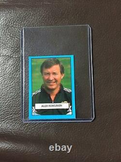Alex Ferguson 1st Appearnce Merlin Range Team 90 Sticker Rookie Man Utd
