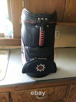 Ben Hogan Leather Emroided Golf Bag. Nice. Man Cave. Driving Range. 20x14x10