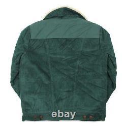 Billabong Mens Wrangler Range Cord Sherpa Jacket Bottle Green L New