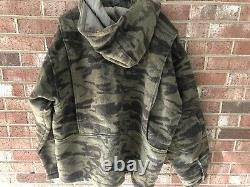 COLUMBIA Gallatin Range Heavy Wool Brown Camo Hooded Hunting Jacket XL GC