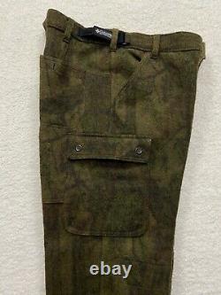 Columbia Gallatin Range Cargo Camo Hunting Pants Outdoors 90% Heavy Wool 34x32