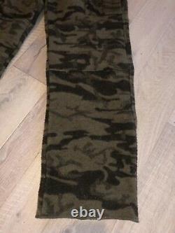 Columbia Gallatin Range Wool Blend Monarch Pass Outfitter Camo Bib Pants Small