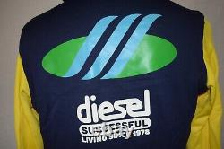 Diesel Mens Hooded Top M Neoprene MIX Multi Colour Rare £199 Aqua Hollic Range