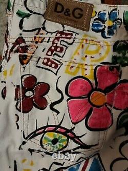Dolce And Gabbana Hand Painted Jeans ITTIERRE RANGE Vintage Classic men/woman's