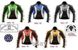Dynamic Colour Range Armoured Motorbike / Motorcycle Leather Jacket