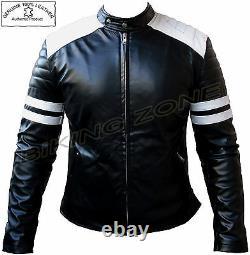 Fight Club Style Range (brad Pitt) Mens Fashion Premium Analene Leather Jacket