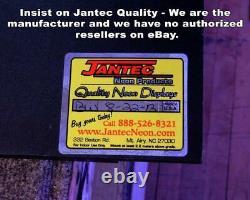 Guns Neon Sign Jantec 32 x 16 Pistol Pawn Shop Man Cave Range Buy Sell