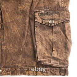 Harkila Distressed Brown Range Shorts Mens 52 US Large 36 Hunter Apparel