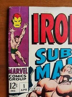 IRON MAN AND SUB-MARINER #1 (1968). VG/F range. One-shot SILVER AGE