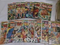 Lot of 88 Comics IRON MAN #24 to #200 Range Most Mid Grade F/VF Bronze Age