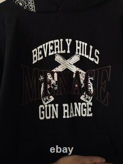 Menace Brand Gun Range Black Bandana Hoodie Size Medium