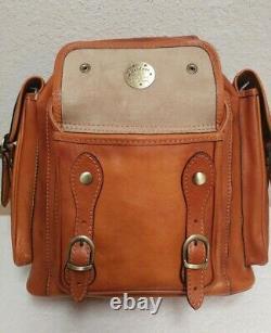 NWT Pratesi Montalbano Bruce Range Whiskey Italian Calf Leather Backpack