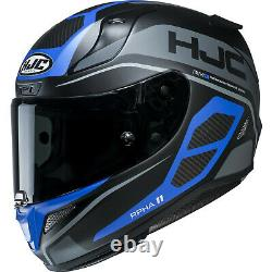 New Hjc Top Of The Range Rpha 11 Saravo Blue Helmet Size Large Rrp £349.99