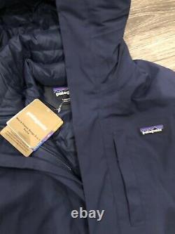 New Patagonia Men's Frozen Range 3-in-1 Parka Navy $799 Large