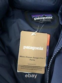 New Patagonia Men's Frozen Range 3-in-1 Parka Navy $799 Xlarge