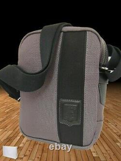 New Vintage LACOSTE Cross-over Unisex Shoulder Bag Off the Court Range Grey (s)
