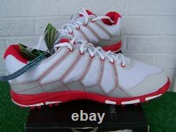 Nike Golf Air Range WP II US Size 11 Medium White & Red Spikeless Golf Shoes NEW