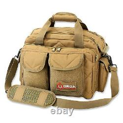Orca Tactical Gun Range Bag Pistol Handgun Shooting Range Duffel Case
