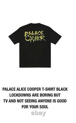 Palace Skateboards Alice Cooper T-shirt Black XL Spring 2021 Range