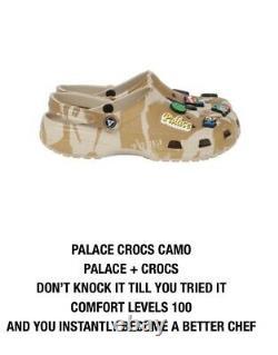 Palace Skateboards Crocs Camo Size 10 Summer 2021 Range