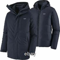 Patagonia Men's Frozen Range 3-in-1 Navy Blue Parka Brand New with Tags