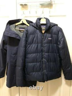 Patagonia Men's Frozen Range 3-in-1 Parka Navy/Black Medium New with Tags $799