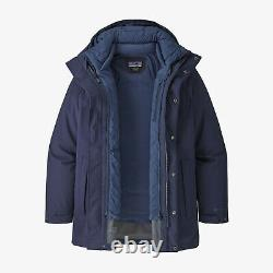 Patagonia Men's Frozen Range 3-in-1 Parka New Navy, Size L New with tags