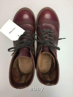RED WING IRON RANGE MUNSON 8012 military boots Bordeaux 8.5D used japan shipping
