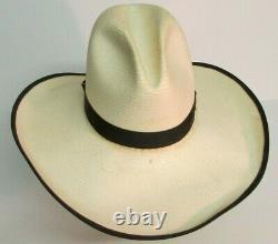 RESISTOL GUS OPEN RANGE Texas Cowboy Hat Size 7 1/4 STRAW SASS MOVIE PROP HOUSE