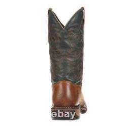 Rocky Men's Long Range Waterproof Western Boots Brown/Black FQ0008656