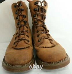 Rocky Western Roper Long Range Brown Leather Work Winter Boots Men's US 11.5M