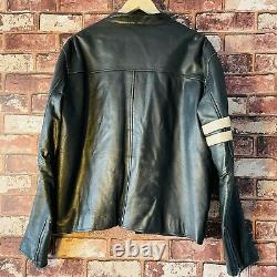 Smart Range Genuine Leather Biker Motorcycle Jacket Mens Size Large Wolverine