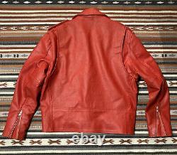 Smart Range Leather Motorcycle Jacket Red Biker Size Medium London UK Pre Owned