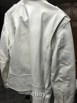 Smart Range White Heavy Leather Jacket