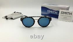 Smith RANGE Men's Round Choco Tort Sunglasses ChromaPop BLUE MIRROR Lens