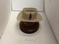 Stetson Cowboy Hat 6X Beaver Fur Silverbelly RANGE With Free Hat Brush+