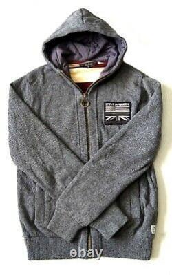 Superb £165 Barbour Hooded Wool Jacket Medium Steve Mcqueen Range Vgc
