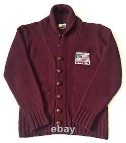 Superb £185 Barbour Wool Shawl Collar Cardigan L Steve Mcqueen Range Vgc