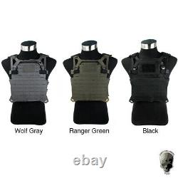 TMC STF Plate Carrier Tactical Vest MOLLE Military Airsoft Vest Laser Cut Army