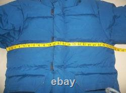 The North Face Himalayan Brooks Range Goose Down Parka Coat Brown Label USA Blue