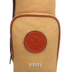 Tourbon Pencil Golf Club Bag Carry Sunday Range Bag Travel Vintage Foldable AU