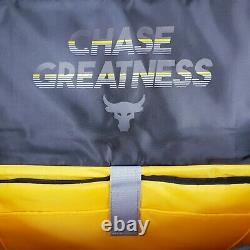 Ua Project Rock Range Duffel Bag 1325332-040 Gray Black/yellow 23x11x11