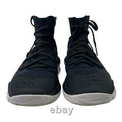 Under Armour Mens Size 8 Black UA Steph Curry 4 More Range Basketball Shoes