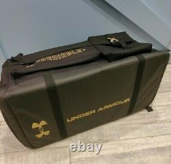 Under Armour Range Cordura Undeniable 53L Duffel Bag Travel Day Rock BLACK RARE