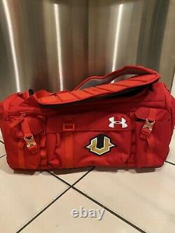 Under Armour UA Range Cordura Undeniable 53L Duffel Bag Red Travel Day The Rock